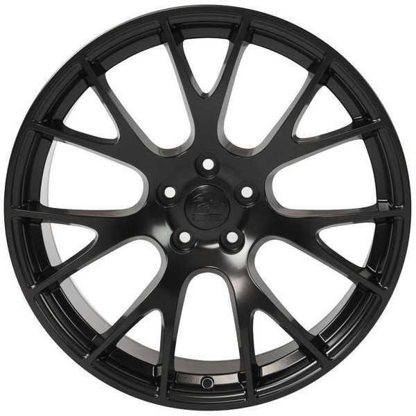 """22"""" Satin Black Hellcat wheel replacement for Dodge Charger. Replica Rim 9507539"""