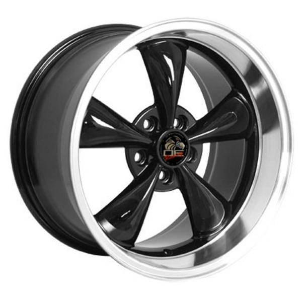 "18"" Ford Mustang   replica wheel 1994-2004 Black Machined rims 8181838"