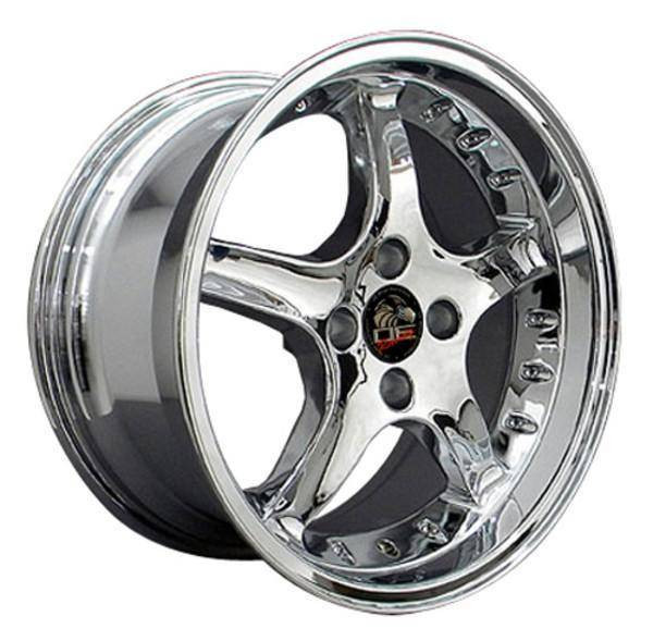"17"" Ford Mustang   replica wheel 1979-1993 Chrome rims 8181873"