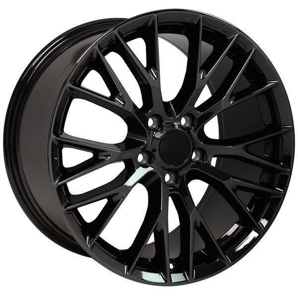 "17"" Chevy Corvette replica wheel 1988-1996 Black Chrome rims 9507861"