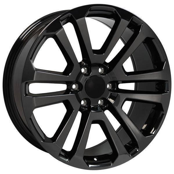 "22"" Chevy Avalanche replica wheel 2002-2013 Black Chrome rims 9507883"