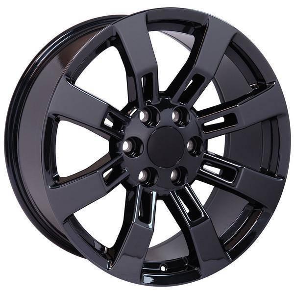 "22"" Chevy Avalanche replica wheel 2002-2013 Black Chrome rims 9507857"