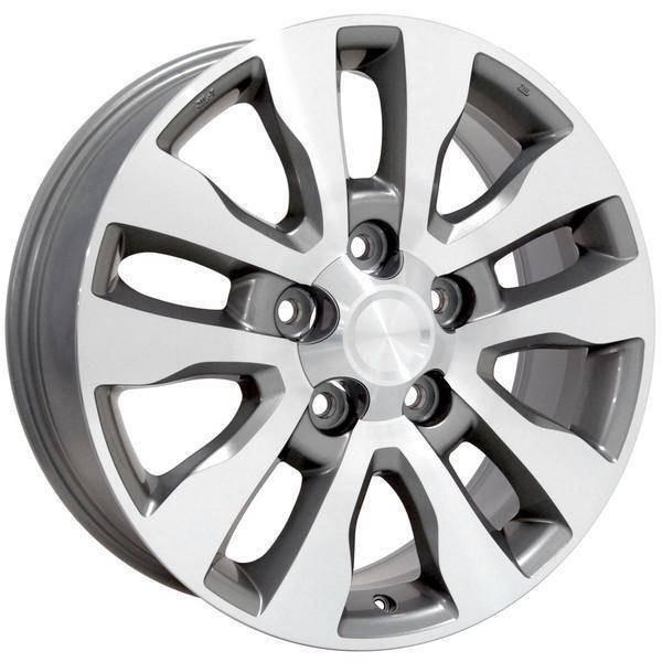 "20"" Toyota Land Cruiser replica wheel 1998-2018 Machined Silver rims 9492069"