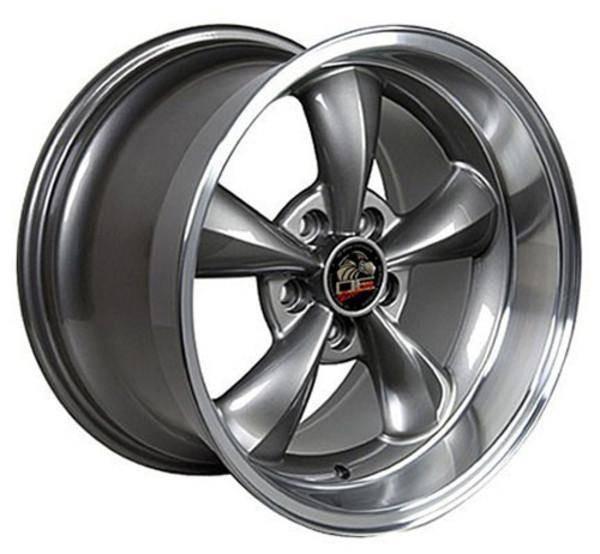 "17"" Ford Mustang   replica wheel 1994-2004 Gunmetal Machined Lip rims 8181830"