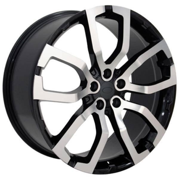 "22"" Land Rover Range Rover Sport replica wheel 2006-2018 Black Machined rims 9451243"