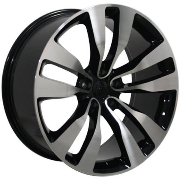 "20"" Dodge Challenger replica wheel 2009-2018 Black Machined rims 9472070"