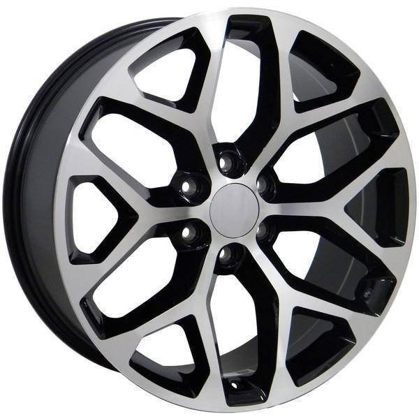 "22"" Chevy C2500 replica wheel 1988-2000 Black Machined rims 9489811"