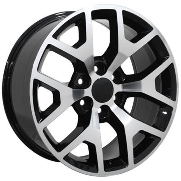 "20"" Chevy C2500 replica wheel 1988-2000 Black Machined rims 9471185"