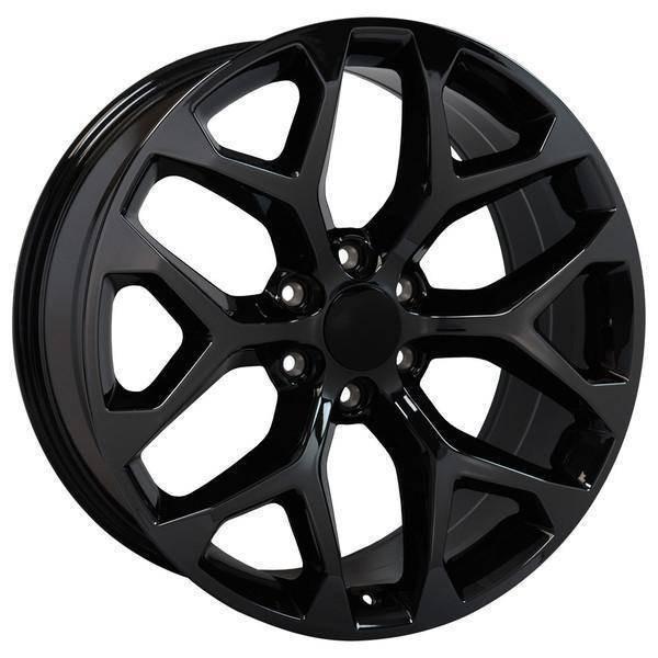 "20"" Chevy Avalanche replica wheel 2002-2013 Black Chrome rims 9507877"