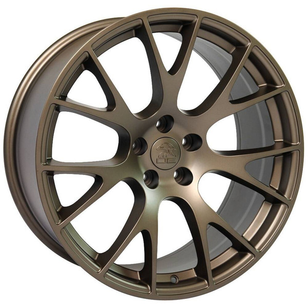 """22"""" Bronze Hellcat replica wheels for Dodge Charger replacement rims 9507541"""