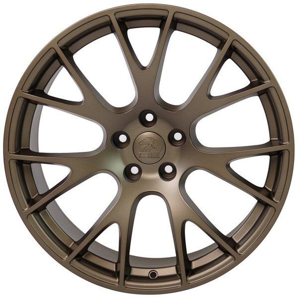 """22"""" Bronze Hellcat wheel replacement for Dodge Charger. Replica Rim 9507541"""
