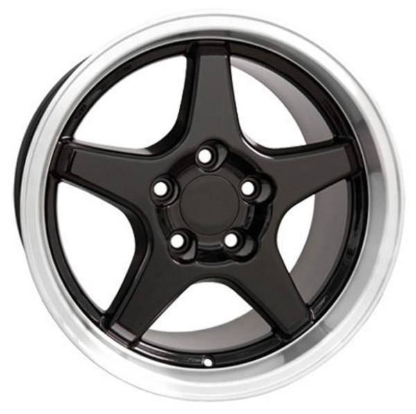 "17"" Pontiac Firebird  replica wheel 1993-2002 Black Machined rims 5910192"