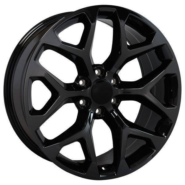 "22"" Chevy Avalanche replica wheel 2002-2013 Black Chrome rims 9507875"