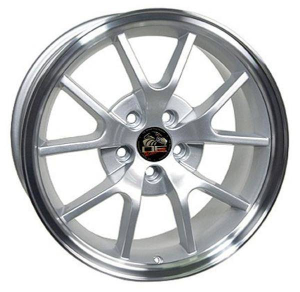 """18"""" Ford Mustang  replica wheel 1994-2004 Silver Machined rims 8181975"""