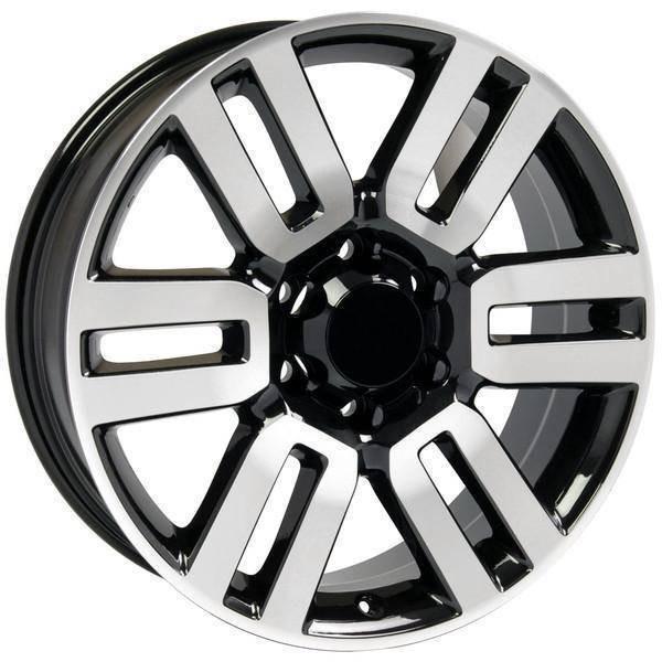 """20"""" Toyota 4Runner replica wheel 1996-2018 Black Machined rims 9492083"""