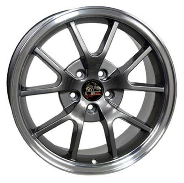 "18"" Ford Mustang  replica wheel 1994-2004 Gunmetal Machined Lip rims 8181972"