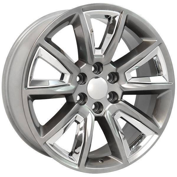 "22"" Chevy Avalanche replica wheel 2002-2013 Hyper Black rims 9507614"