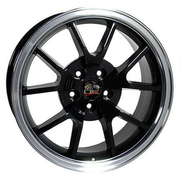 "18"" Ford Mustang replica wheel 1994-2004 Black Machined rims 8181969"