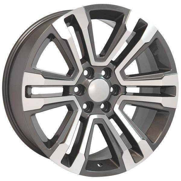 "22"" Chevy Avalanche replica wheel 2002-2013 Hyper Black rims 9507899"