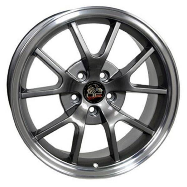"18"" Ford Mustang replica wheel 1994-2004 Gunmetal Machined Lip rims 8181968"