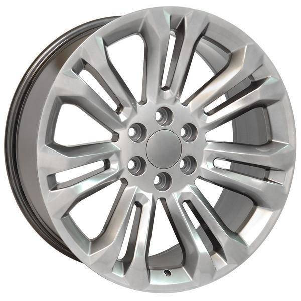 "22"" Chevy Avalanche replica wheel 2002-2013 Hyper Black rims 9507904"