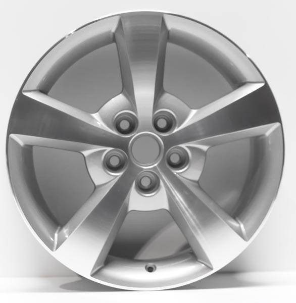 """17"""" Malibu 2008 replica wheel Machined with gray vents replacement for rim 5334"""