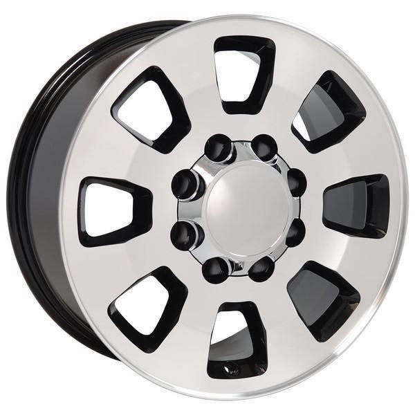 "18"" Chevy Silverado 2500 3500 HD replica wheel 2011-2015 Black Machined rims 9504053"