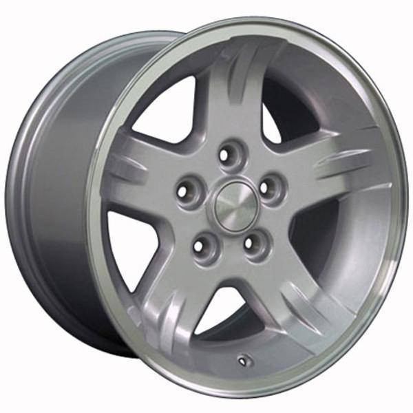 "15"" Jeep Wrangler replica wheel 1987-2006 Silver Machined rims 7154712"