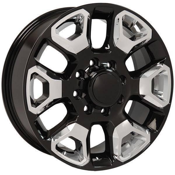 "20"" Dodge RAM 1500 Mega Cab replica wheel 2006-2008 Black Chrome Inserts rims 9507472"