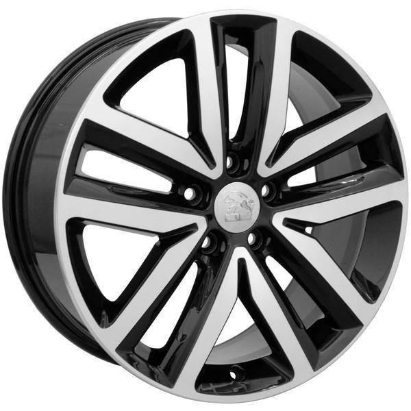 "18"" Volkswagen VW GTI replica wheel 2006-2018 Black Machined rims 9490043"