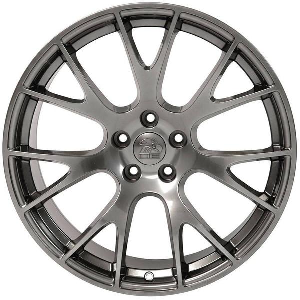 "20"" Hyper Black Hellcat wheel replacement for Dodge Challenger. Replica Rim 9506268"