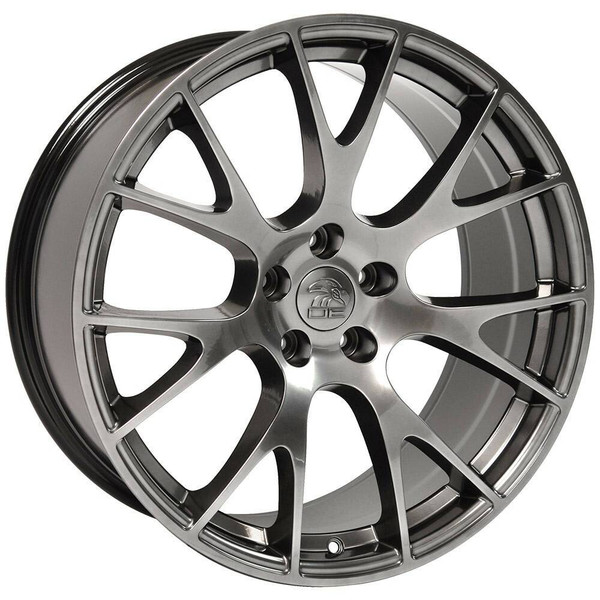 "20"" Hyper Black Hellcat replica wheel for Dodge Challenger replacement rims 9506268"