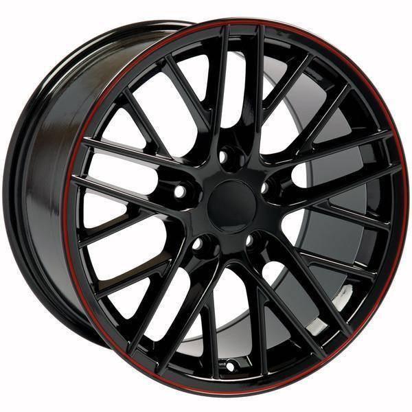 """17"""" Pontiac Firebird replica wheel 1993-2002 Black Red Band rims 9498436"""