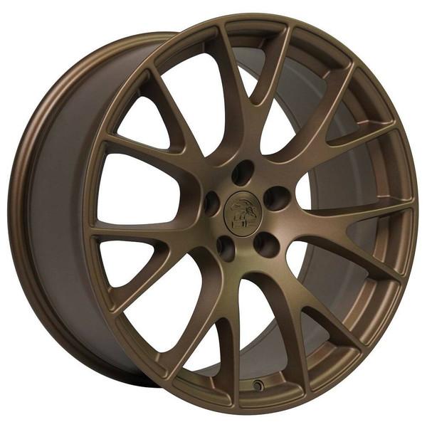 """20"""" Bronze Hellcat replica wheel for Dodge Challenger replacement rims 9506267"""
