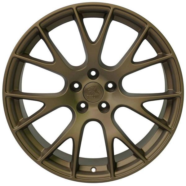 """20"""" Bronze Hellcat wheel replacement for Dodge Challenger. Replica Rim 9506267"""