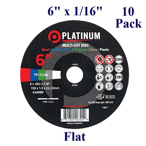 """6"""" x 1/16"""" x 7/8"""" - Multi-cut Cutting Disc -  Flat (10 Pack)"""