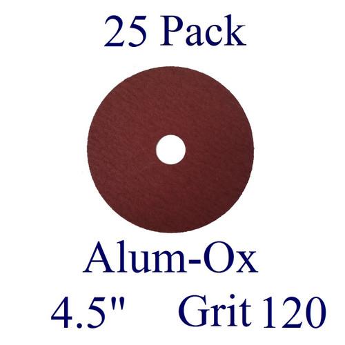 "4.5"" x 7/8"" - Fiber Disc - Aluminum Oxide - Grit 120 (25 Pack)"