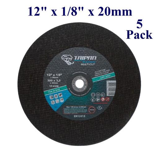 "12"" x 1/8"" x 20mm - Multi-Cut Gas Saw Wheel  (5 Pack)"