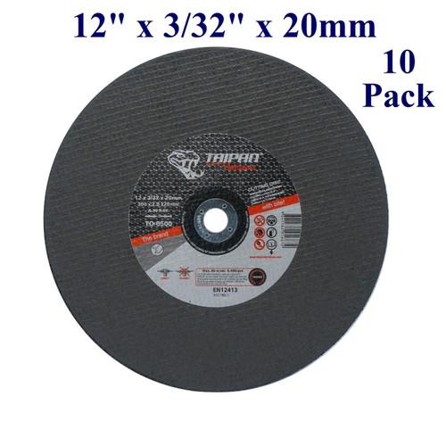 "12"" x 3/32"" x 20mm - Gas Saw Wheel - Steel (10 Pack)"