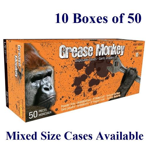 Grease Monkey - 15 mil Latex - Blue - M-XXL  (Case: 10 x 50/box)