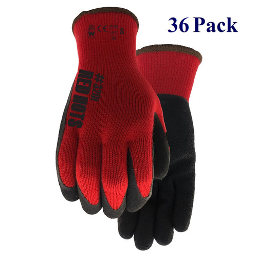 Red Hots - Crinkle Rubber Palm - Insulated - S-XL  (36 Pack)
