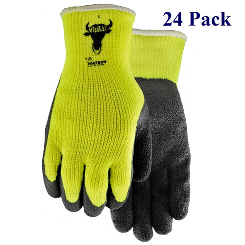 VisiBull - Crinkle Rubber Palm - Hi-vis, Insulated - S-XL  (24 Pack)