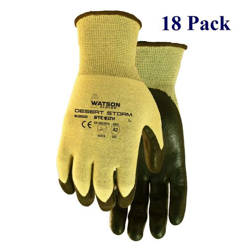 Stealth Desert Storm - Nitrile Palm - ANSI Cut Lv A2 - S-XXL  (18 Pack)