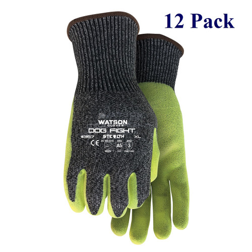 Stealth Dog Fight- Sandy Nitrile Palm - Hi-vis - ANSI Cut Lv A5 - S-XXL  (12 Pack)
