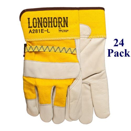 Longhorn - FG Cowhide Palm - S-XXL  (24 Pack)