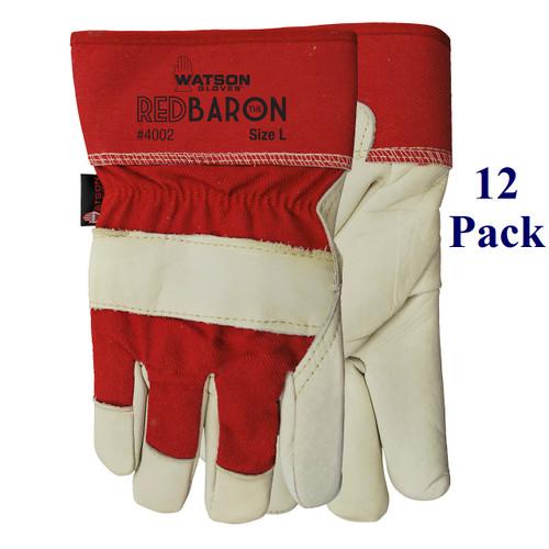 Red Baron - FG Cowhide Palm - L-XL  (12 Pack)