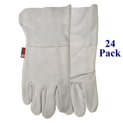 The Hacker - Split Cowhide - Lined Palm - Lg  (24 Pack)
