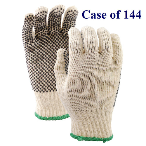 Dotted Liner - PVC Dotted Palm - S-XL  (Case of 144 Pairs)