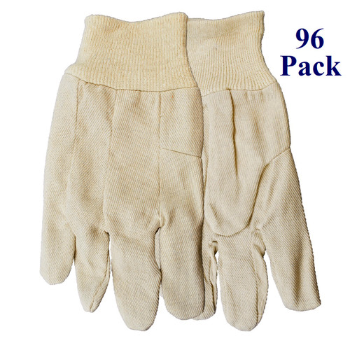 White On - Cotton Canvas Shell - Lg  (96 Pack)