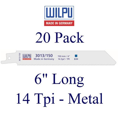 "6"" x 14 Tpi - Metal Cutting Blade - Bi-Metal with Cobalt  (20 Pack)"